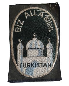 SS TURKESTAN LEGION VOLUNTEER'S BEVO SLEEVE SHIELD