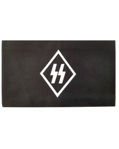 GERMAN NAZI SS RUNES BLACK COTTON ARMBAND