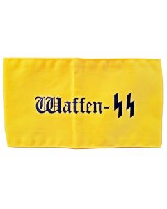 WWII GERMAN WAFFEN SS YELLOW COTTON ARMBAND