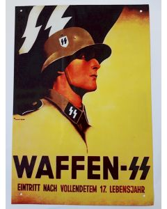GERMAN WAFFEN-SS ADMISSION AFTER THE FOLLOWING 17. LIFE YEAR