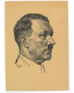 GERMAN ADOLF HITLER PORTRAIT ARTIST K 1938