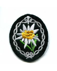GERMAN ARMY EDELWEISS SLEEVE EAGLE ENLISTED MAN - DARK GREEN BACKING