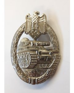 GERMAN WW2 SILVER ARMY PANZER ASSAULT BADGE