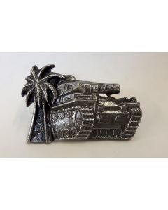 GERMAN BATTLE TANK IN AFRICA COMMEMORATIVE BADGE