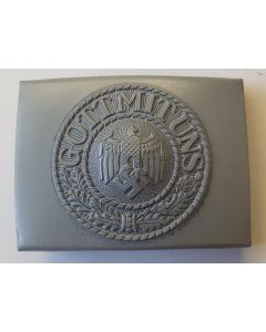GERMAN BELT BUCKLE ARMY ENLISTED MAN STEEL PAINTED GREY