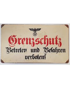 GERMAN BORDER POLICE METAL SIGN