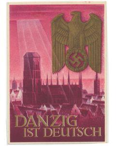 GERMAN DANZIG IST DEUTSCH POSTCARD