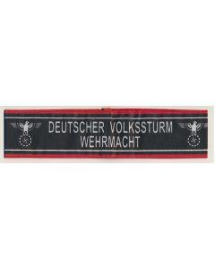 GERMAN DEUTSCHER VOLKSSTURM WEHRMACHT ARM BAND