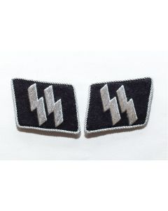 GERMAN WW2 DOUBLE SS RUNES Collar Tab