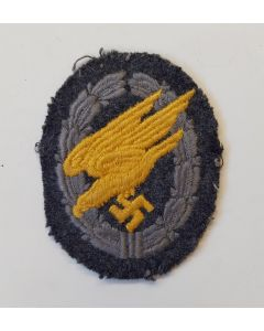 GERMAN EM / NCO'S PARATROOPER'S BADGE IN CLOTH ORIGINAL