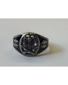 GERMAN GENERAL ASSAULT RING WITH EAGLE
