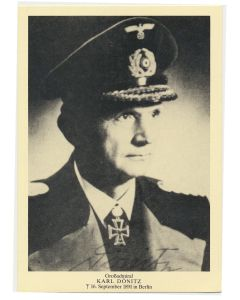 GERMAN GROBADMIRAL KARL DONITZ POSTCARD
