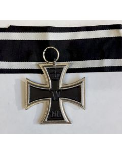 GERMAN IRON CROSS 2nd CLASS With Silver & Black Ribbon