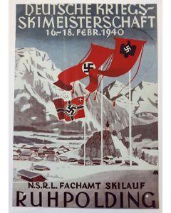 GERMAN KREIGS SKI CHAMPIONSHIP METAL SIGN