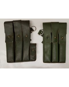 GERMAN LEATHER MP 3840 SCHMEISSER POUCH SET