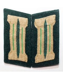 GERMAN LITZEN EM HEER MOUNTAIN TROOP BEVO COLLAR TAB M36