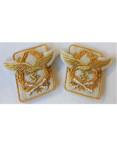 GERMAN LUFTWAFFE FIELD MARSHALL HERMAN GORING COLLAR TABS