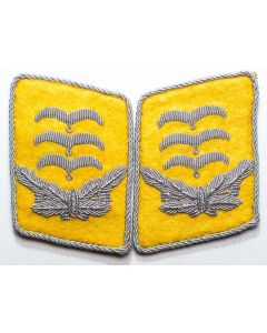GERMAN LUFTWAFFE FLIGHT FALLSCHIRMJAGER HAUPTMANN'S COLLAR TABS