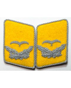 GERMAN LUFTWAFFE FLIGHT FALLSCHIRMJAGER LIEUTENANT'S COLLAR TABS