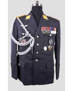 GERMAN LUFTWAFFE SINGLE BREASTED LAPEL OFFICERS JACKET