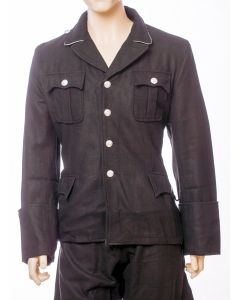 GERMAN M32 TUNIC: ALLGEMEINE SS BLACK WOOL JACKETS