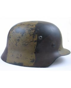 GERMAN M35 3 COLOR CAMO HELMET WW2