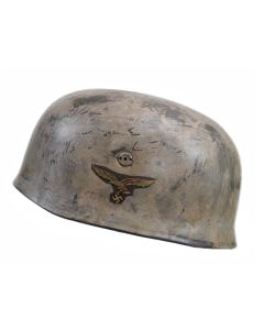 GERMAN M38 FALLSCHIRMJAGER HELMET WINTER CAMO