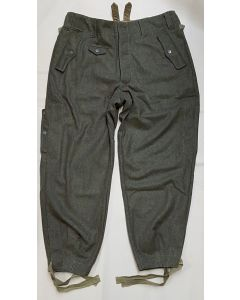 GERMAN M38 PARATROOPER TROUSERS - FIELD GRAY WOOL