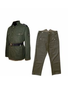 GERMAN M40 WOOL SERVICE TUNIC AND M37 FIELD GREEN WOOL PANTS