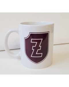 "GERMAN MAROON BROWN 4th SS PANZER GRENADIER DIVISION ""POLIZEI"" COFFEE CUP"