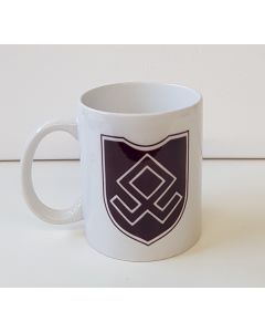 GERMAN MAROON BROWN 7th SS VOLUNTEER GEBIRGS DIVISION ORINZ EUGEN COFFEE CUP