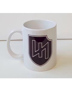 """GERMAN MAROON BROWN WW2 2nd WAFFEN SS PANZER DIVISION"""" DAS REICH """" COFFEE CUP"""