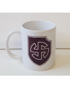 GERMAN MAROON BROWN WW2 WAFFEN-SS 5th PANZER DIVISION WIKING COFFEE CUP