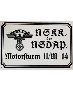 GERMAN NSKK MOTOR BORD METAL SIGN