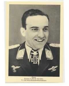 GERMAN OBERST HANS-ULRICH RUDEL POSTCARD
