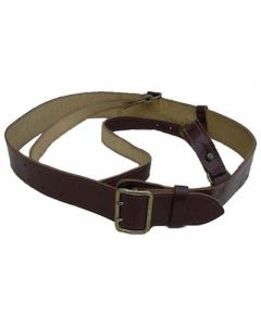 GERMAN OFFICERS BROWN LEATHER BELT WITH CROSS STRAP
