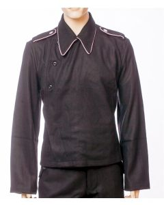 GERMAN WW2 PANZER WRAP - BLACK WOOL PANZER WRAPPER TUNIC JACKET