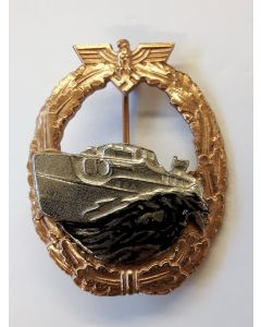 GERMAN PATROL TORPEDO BOAT WAR BADGE (E-BOAT) 1st PATTERN Gold & Silver