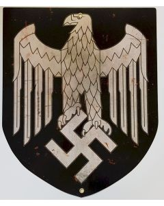 GERMAN PLASMA CUT SHIELD EAGLE METAL SIGN