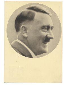 GERMAN POSTCARD FUHRER UND REICHSKANZLER ADOLF HITLER PORTRAIT MANNER DER ZEIT NR. 91