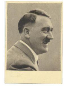 GERMAN POSTCARD FUHRER UND REICHSKANZLER ADOLF HITLER PORTRAIT MANNER DER ZEIT NR. 92