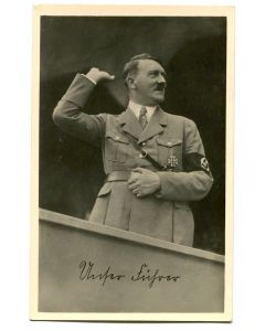 GERMAN POSTCARD OF HITLER
