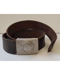 GERMAN RAD EM/NCO ALUMINIUM BELT BUCKLE AND BELT