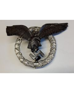 GERMAN ROUND PILOT BADGE - SILVER