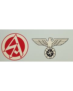 GERMAN SA RUNES & EAGLE HELMET DECAL