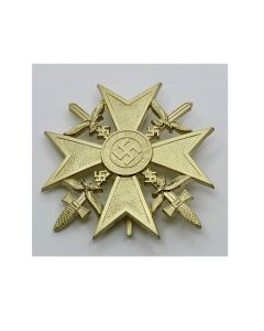 GERMAN WW2 SPANISH CROSS WITH SWORDS Gold