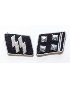 GERMAN SS-OBERSTURMBANNFUHRER (Lieutenant Colonel) OFFICER COLLAR TABS