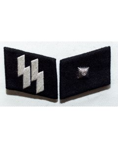 GERMAN SS-UNTERCHARFUHRER (Sargeant) ENLISTED MAN COLLAR TABS