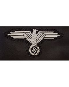 GERMAN SS CAP EAGLE BEVO STYLE HAT BADGE EM GREY