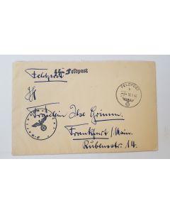GERMAN SS FELDPOST LETTER DATED 18/9/42